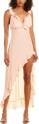 Amanda Uprichard Chandelier Silk Maxi Dress