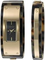Anne Klein Women's AK/2826TOST Gold-Tone and Tortoise Resin Watch and Bangle Set