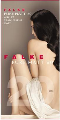 Falke Women Pure Matt 20 DEN Anklets - Sheer Matt Black (Black 3009) UK 5.5-8 (Manufacturer size: 39-42) 1 Pair