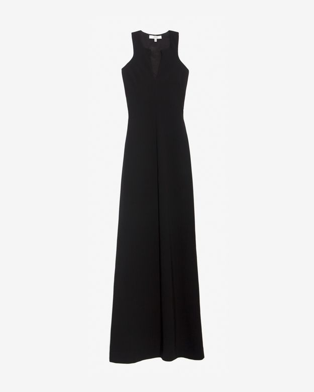 Robert Rodriguez Exclusive Chiffon Inset Racer Back Gown