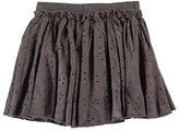 Molo Bitten Smocked Eyelet Skirt, Pavement, Size 2-12