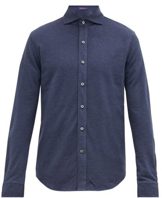 Ralph Lauren Purple Label Pima-cotton Pique Shirt - Mens - Blue