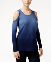 Style&Co. Style & Co Petite Ombré Cold-Shoulder Top, Only at Macy's