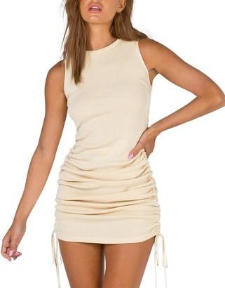 Steve Madden Sleeveless Mini Dress Beige