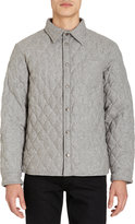 Barneys New York Quilted Shirt Jacket