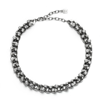 Dannijo Rhonda Chain-Link Necklace, Silver