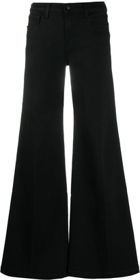 J Brand Wide-Leg Flared Jeans