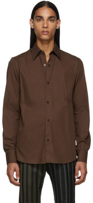 Dries Van Noten Brown Poplin Shirt