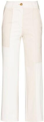 REJINA PYO Panelled Straight-Leg Trousers