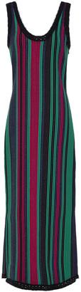 3.1 Phillip Lim Crochet-trimmed Striped Jacquard-knit Midi Dress