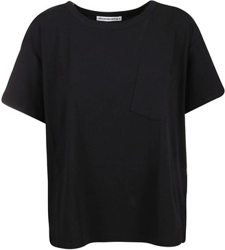 Alexander Wang T-shirt Vintage Cotton Jersey With Tilted Pocket Det