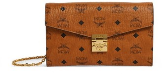 MCM Visetos Patricia Flap Wallet with Chain