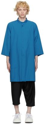 132 5. ISSEY MIYAKE Blue Cotton Poplin Shirt