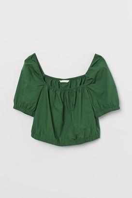 H&M Short Cotton Top - Green