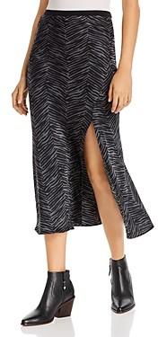 Anine Bing Dolly Zebra Print Silk Skirt