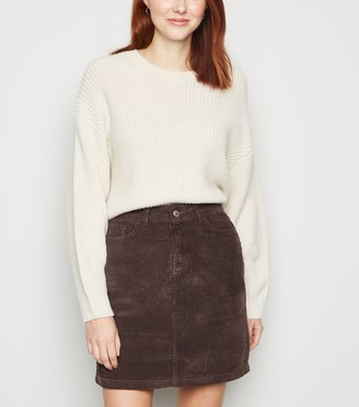 New Look Pocket Cord Mini Skirt