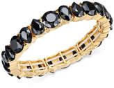 Charter Club Gold-Tone Jet Stone Stretch Bracelet, Created for Macy's