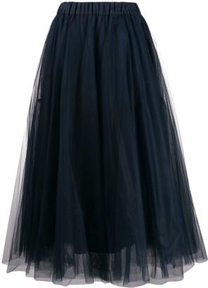 P.A.R.O.S.H. Tulle Midi Skirt