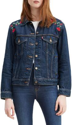 Levi's Bed of Roses Ex-Boyfriend Denim Trucker Jacket