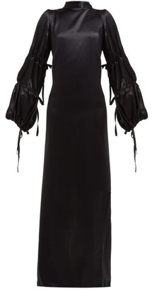 Ann Demeulemeester Open-back Silk-satin Crepe Gown - Black