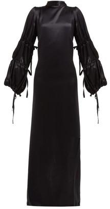 Ann Demeulemeester Open-back Silk-satin Crepe Gown - Womens - Black