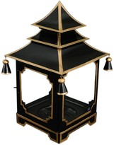 The Well Appointed House Black and Gold Medium Pagoda Candleholder