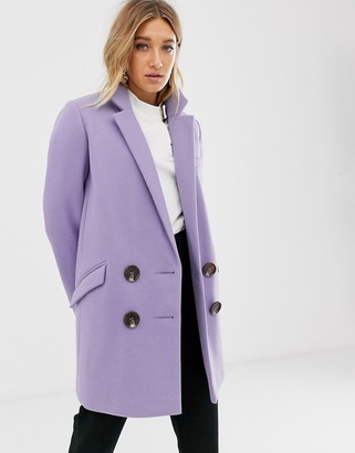 Asos Design DESIGN double breasted coat-Beige