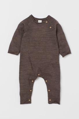 H&M Merino Wool Overall - Beige