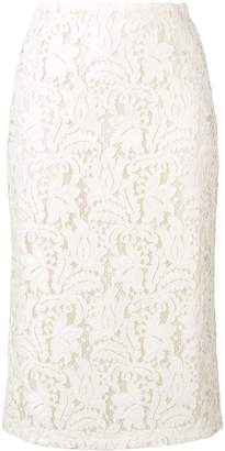 Brognano White Lace Skirt