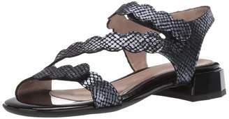 BeautiFeel Women's MUSA Heeled Sandal Black/Indigo SATINATO Tarta 410 Medium EU (10 US)