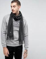 Barbour Plain Lambswool Scarf In Grey