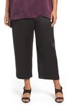 Eileen Fisher Plus Size Women's Silk Satin Crop Pants