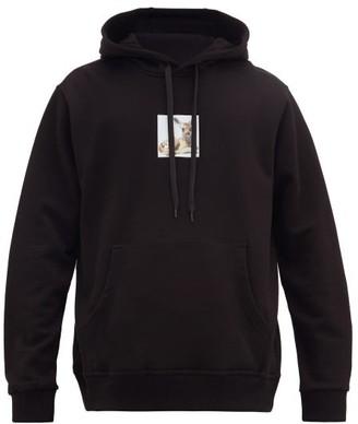 Burberry Hooded Fawn-print Cotton-jersey Sweatshirt - Black