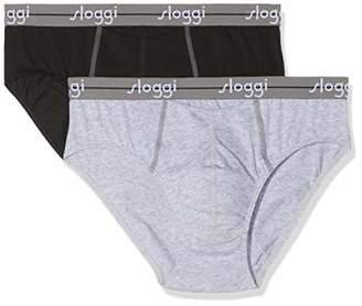 Sloggi for Men Men's Start Ho Midi C2p Boxer Briefs, (Black 0004), Medium (Size: 5) (Pack of 2)