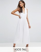ASOS Tall ASOS TALL Jumpsuit with Origami detail and Culotte leg