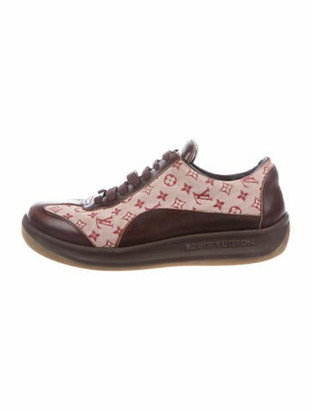 Louis Vuitton Signature Logo Leather Sneakers Brown