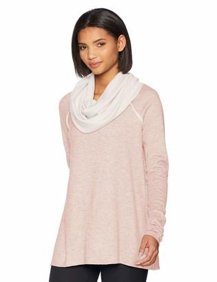 Maaji Women's Swing Solid Long Sleeve Layer Top with Oversize Cowel Neck