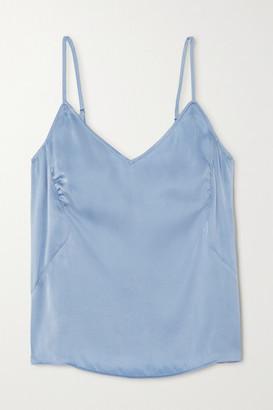 Skin - Tabatha Stretch-silk Satin Camisole - Blue