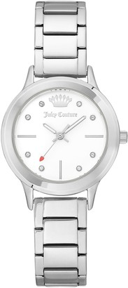 Juicy Couture Stainless Bracelet Watch with White Dial