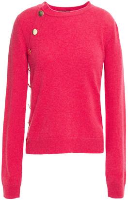 Altuzarra Button-detailed Melange Cashmere Sweater
