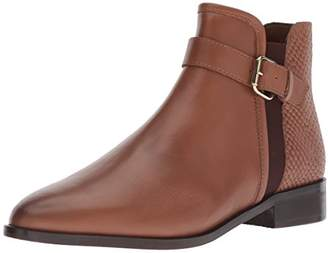 Kenneth Cole Reaction Women's Date 2 Nite Flat Ankle Bootie with Buckle Detail Boot