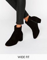 Women's Suede Ankle Boots Low Heel - ShopStyle UK