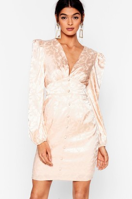 Nasty Gal Womens Sleek Low Floral Mini Dress - Cream