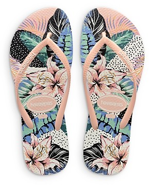 Havaianas Women's Slim Animal Floral Thong Sandals