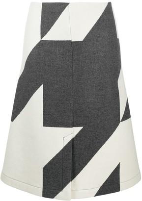 HUGO BOSS star print A-line skirt