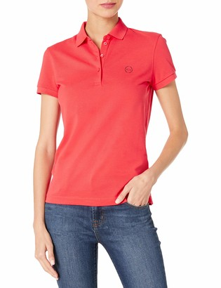 Ax Armani Exchange A|X Armani Exchange Women's Classic Circle Logo Short Sleeve Pique Polo Shirt
