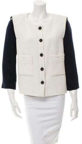 Chanel Colorblock Tweed Jacket