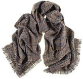 Black Large Taupe, and Ivory Check Cashmere Scarf