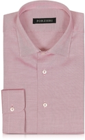 Forzieri White & Red Woven Cotton Men's Shirt