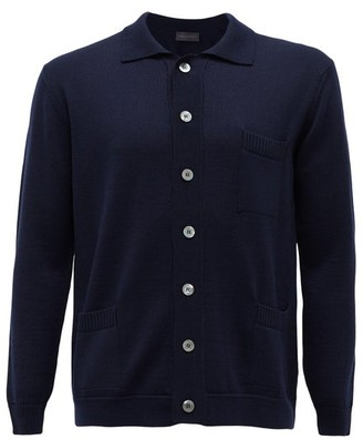 Thom Sweeney - Point-collar Wool Cardigan - Navy